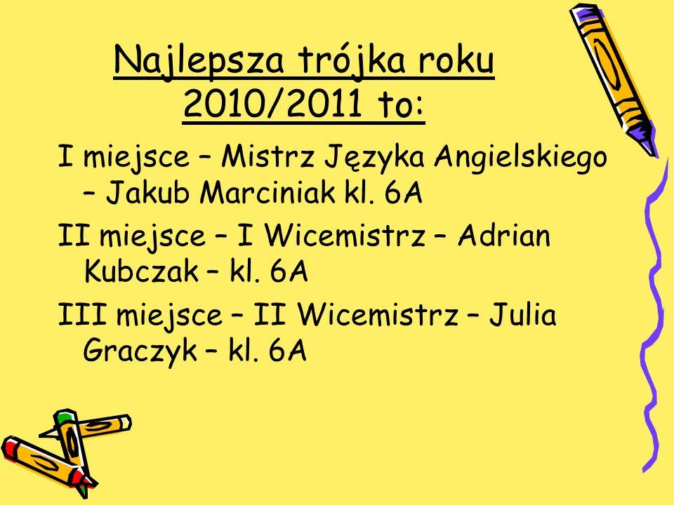Najlepsza trójka roku 2010/2011 to: