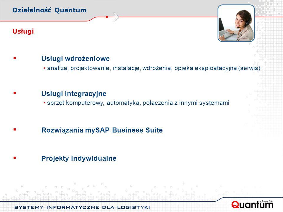 ▪ Rozwiązania mySAP Business Suite