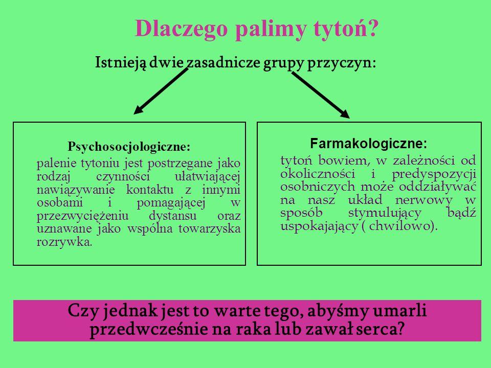 Istnieją dwie zasadnicze grupy przyczyn: Psychosocjologiczne: