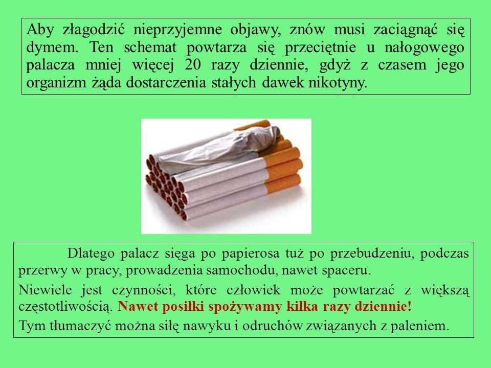 Aby złagodzić nieprzyjemne objawy, znów musi zaciągnąć się dymem
