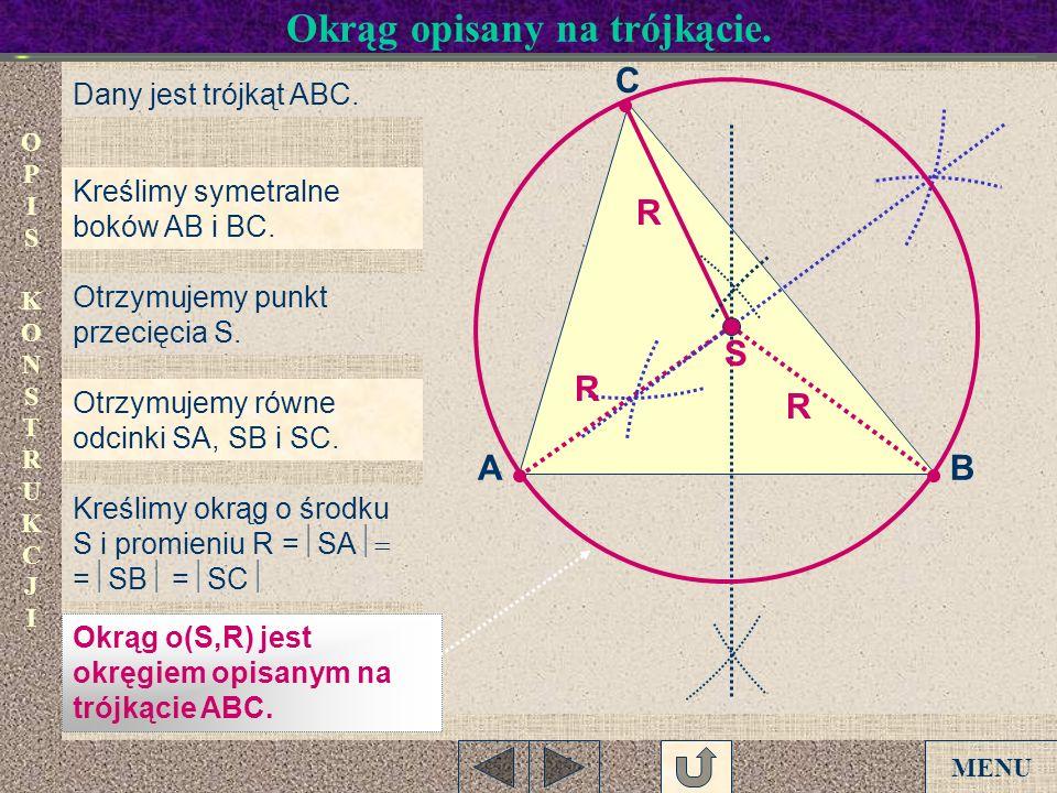 Okrąg opisany na trójkącie.