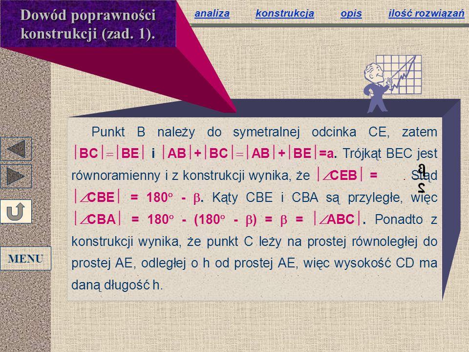 Dowód poprawności konstrukcji (zad. 1).