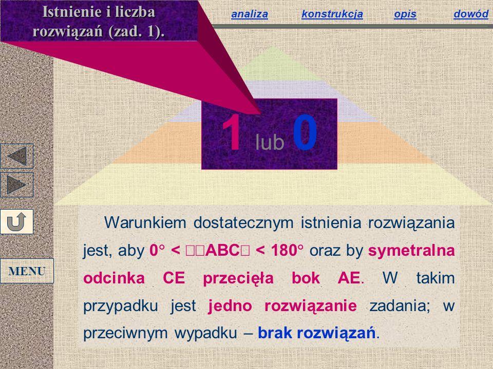 Istnienie i liczba rozwiązań (zad. 1).