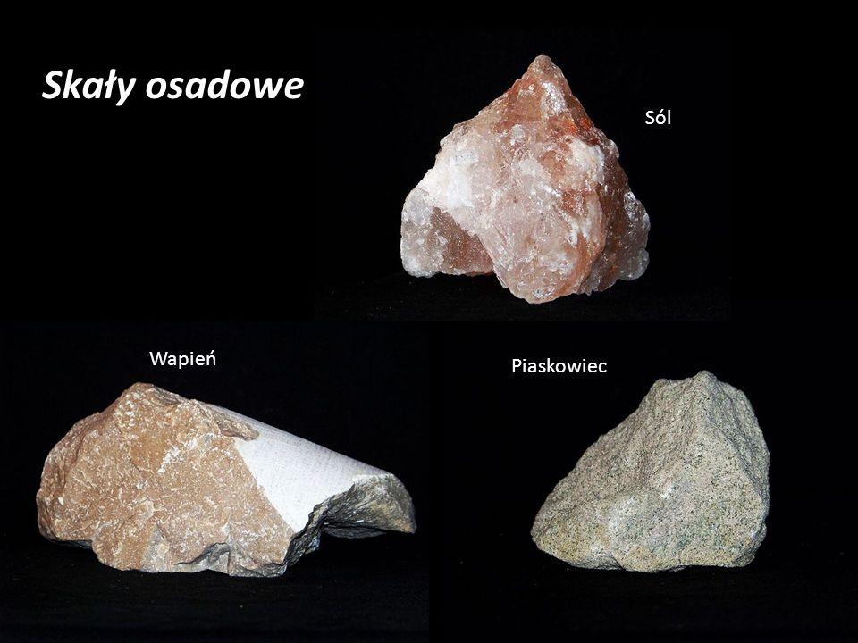 Skały osadowe Sól Wapień Piaskowiec