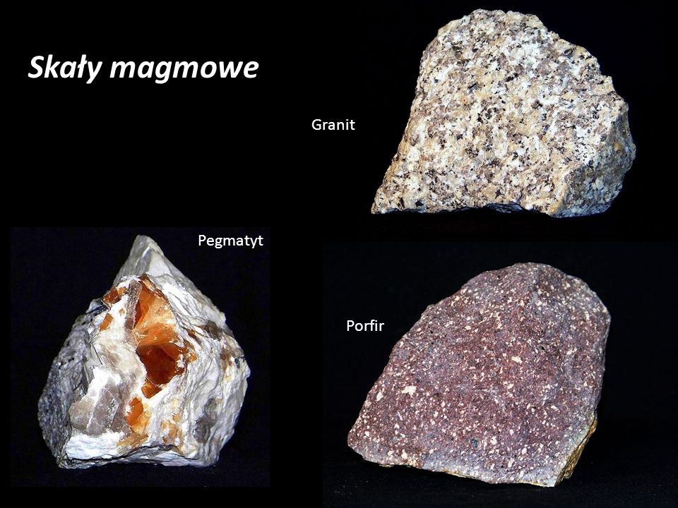 Skały magmowe Granit Pegmatyt Porfir