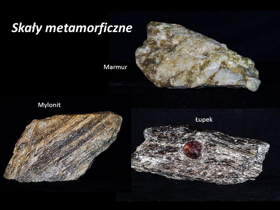 Skały metamorficzne Marmur Mylonit Łupek