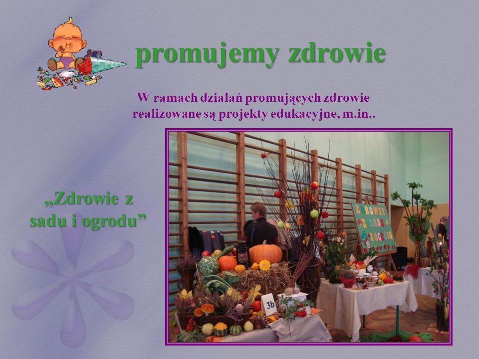 """promujemy zdrowie """"Zdrowie z sadu i ogrodu"""
