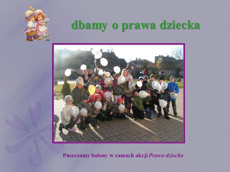 Puszczamy balony w ramach akcji Prawa dziecka