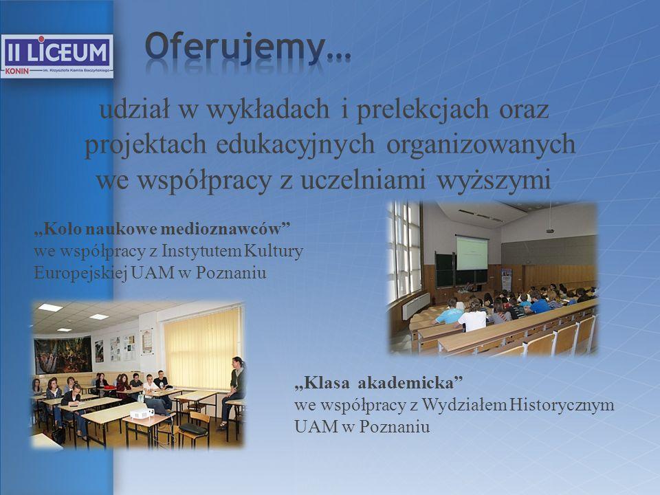 we współpracy z uczelniami wyższymi
