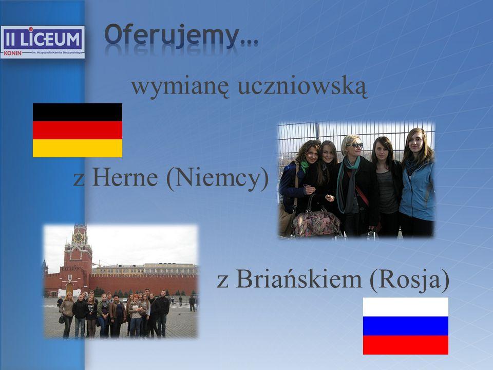 Oferujemy… wymianę uczniowską z Herne (Niemcy) z Briańskiem (Rosja)