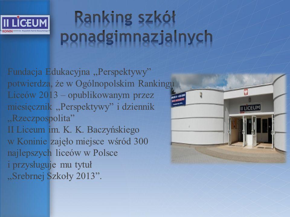 Ranking szkół ponadgimnazjalnych