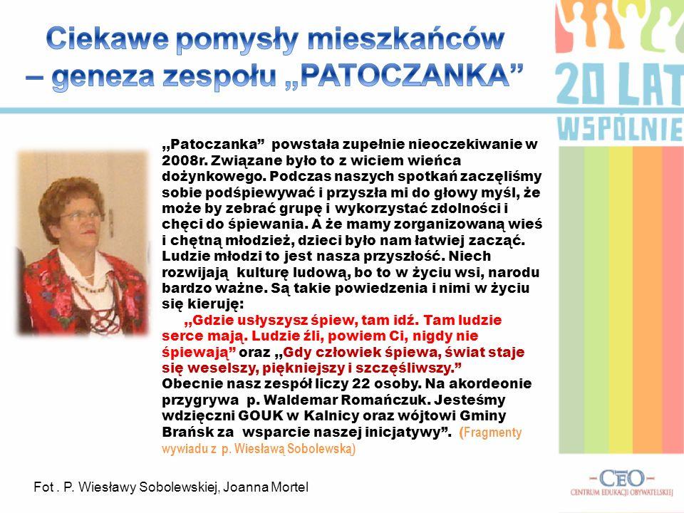 """Ciekawe pomysły mieszkańców – geneza zespołu """"PATOCZANKA"""