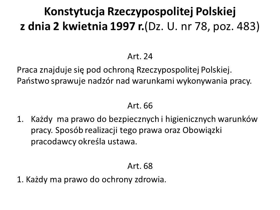 Konstytucja Rzeczypospolitej Polskiej z dnia 2 kwietnia 1997 r. (Dz. U