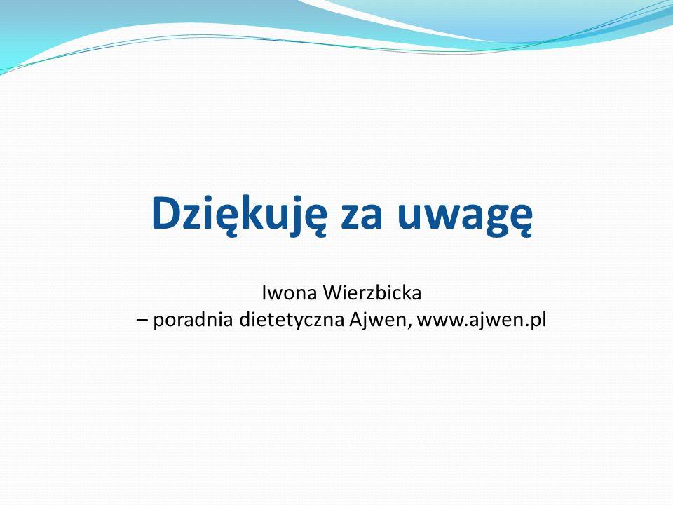 – poradnia dietetyczna Ajwen, www.ajwen.pl
