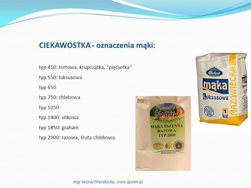 CIEKAWOSTKA - oznaczenia mąki: