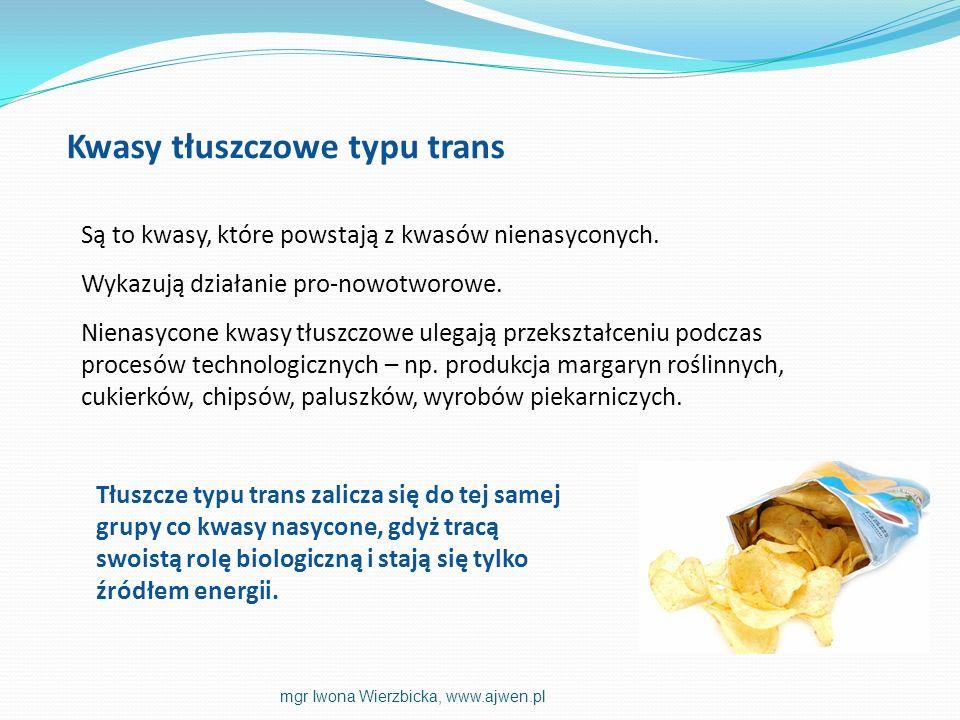 Kwasy tłuszczowe typu trans