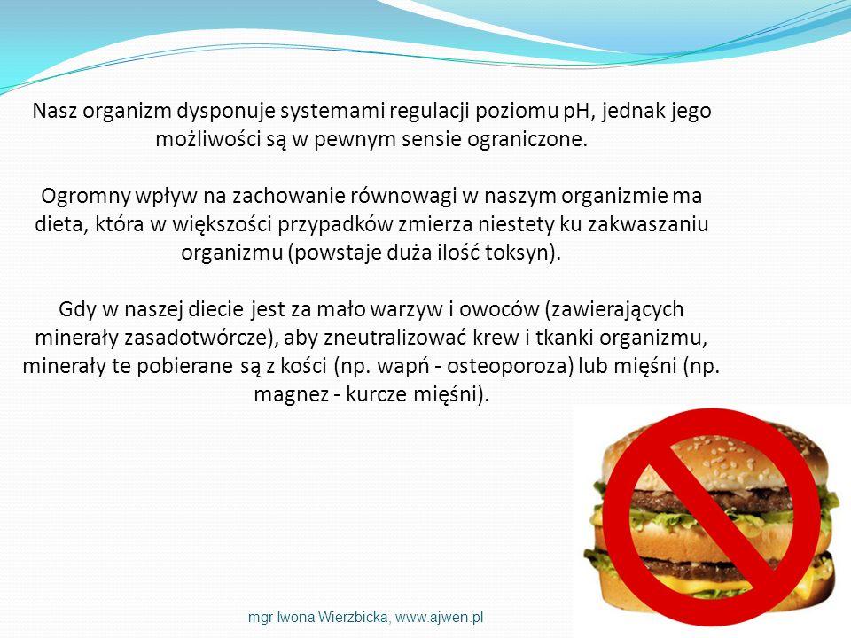 Nasz organizm dysponuje systemami regulacji poziomu pH, jednak jego możliwości są w pewnym sensie ograniczone.