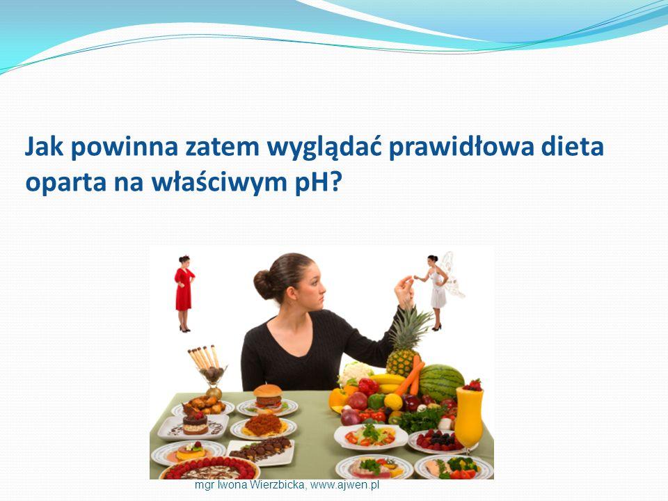 Jak powinna zatem wyglądać prawidłowa dieta oparta na właściwym pH