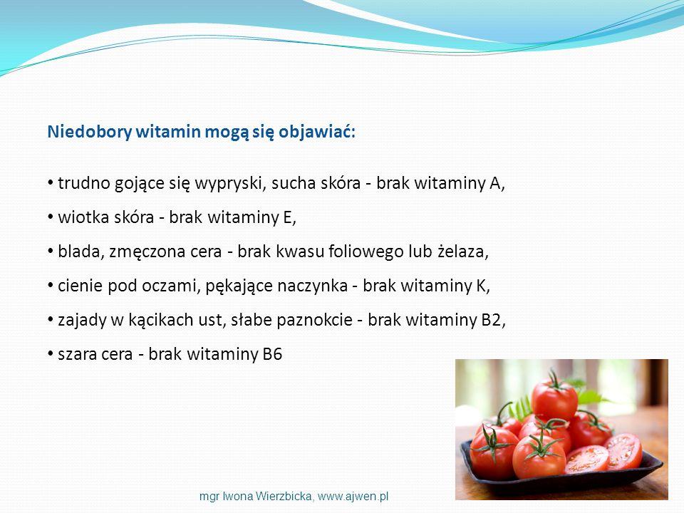 Niedobory witamin mogą się objawiać: