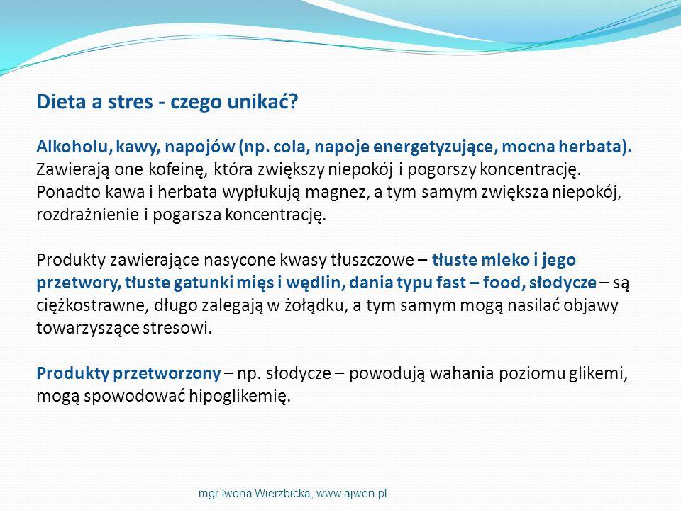 Dieta a stres - czego unikać. Alkoholu, kawy, napojów (np