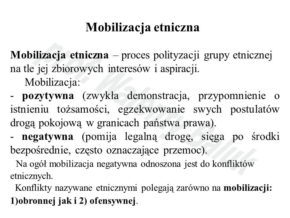 Mobilizacja etniczna Mobilizacja etniczna – proces polityzacji grupy etnicznej na tle jej zbiorowych interesów i aspiracji.