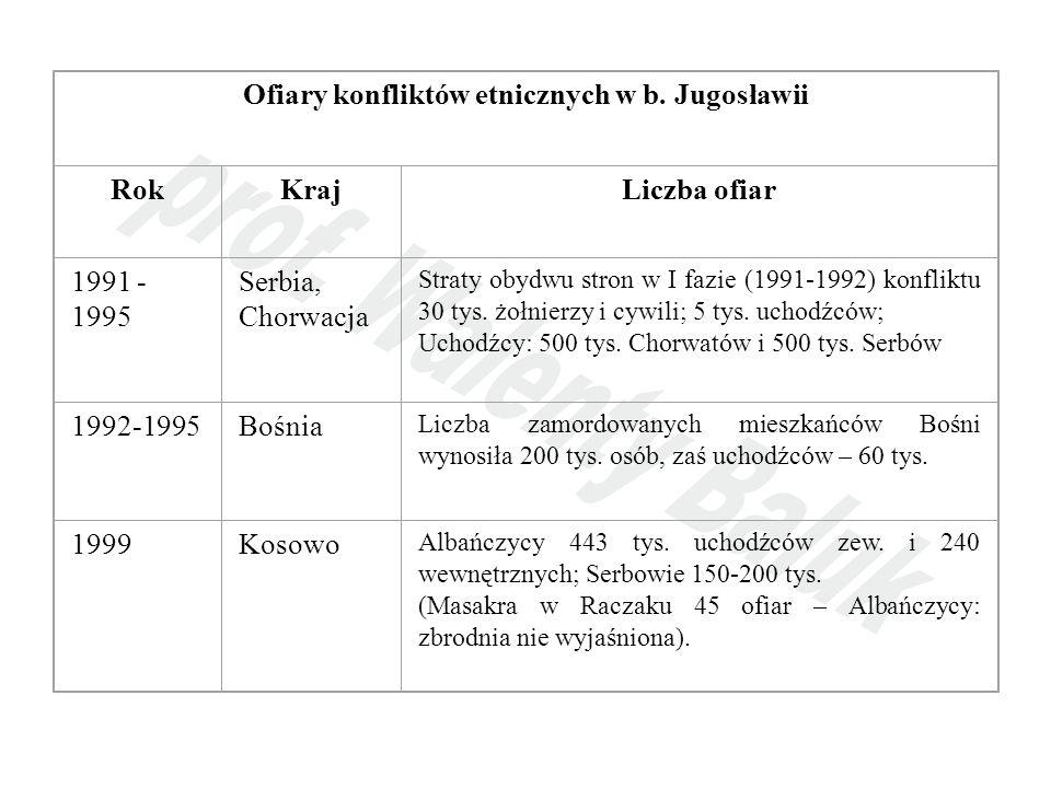 Ofiary konfliktów etnicznych w b. Jugosławii