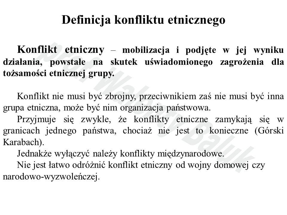 Definicja konfliktu etnicznego