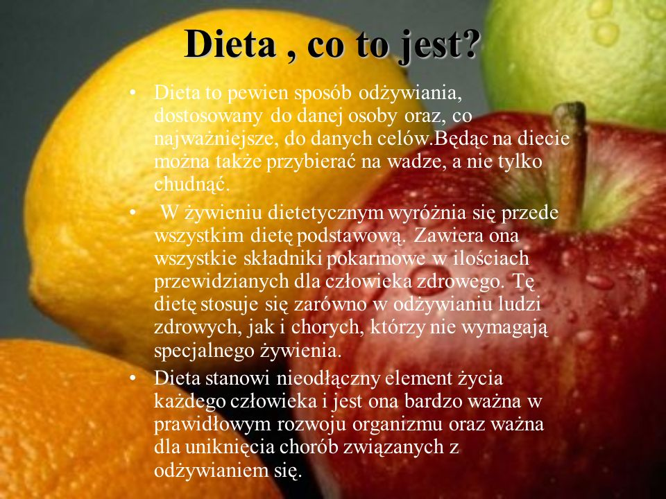 Dieta , co to jest