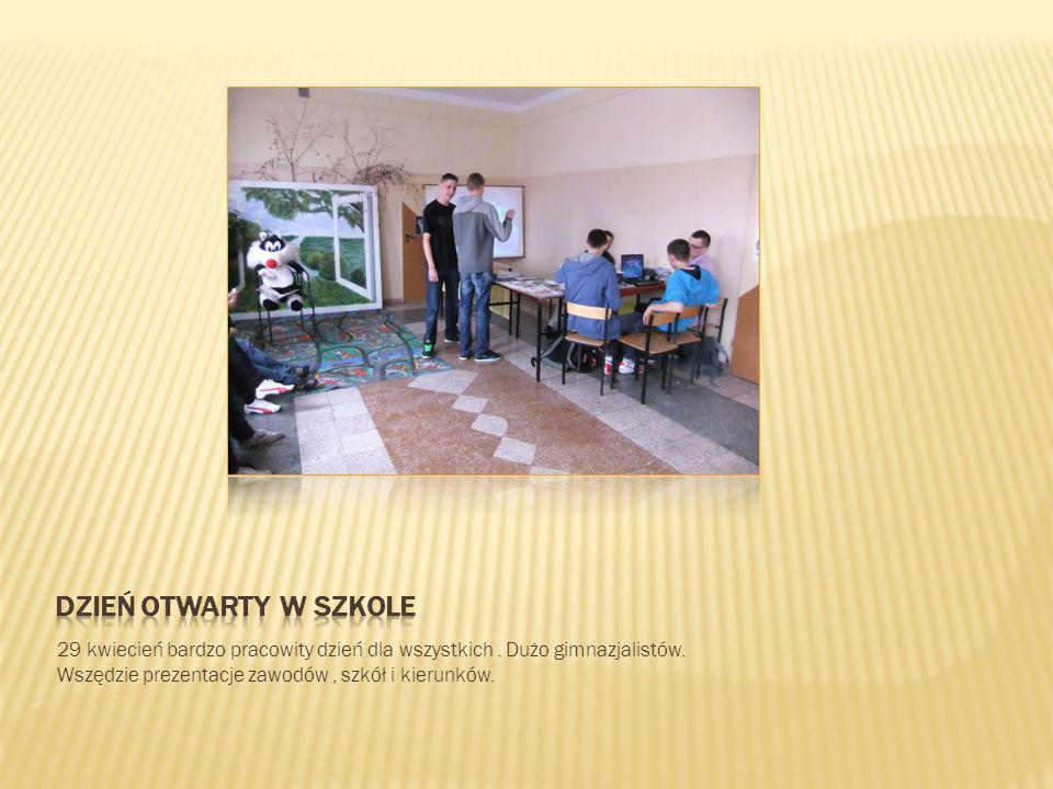 Dzień otwarty w szkole 29 kwiecień bardzo pracowity dzień dla wszystkich .