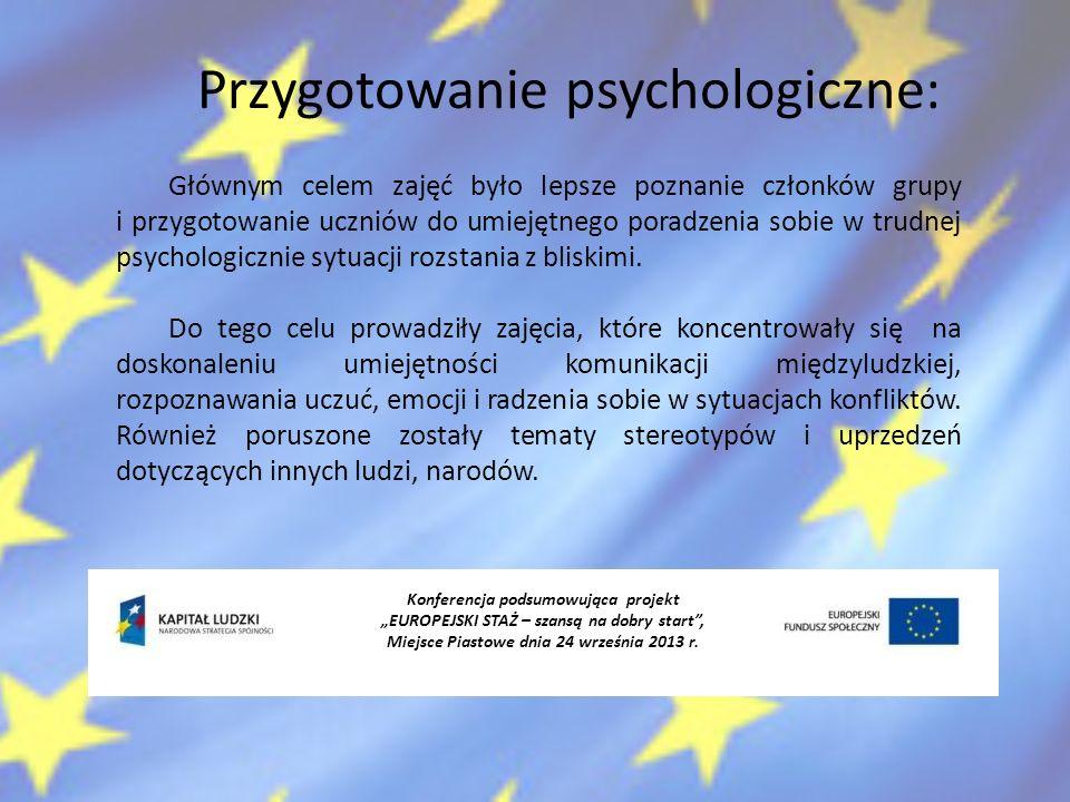 Przygotowanie psychologiczne: