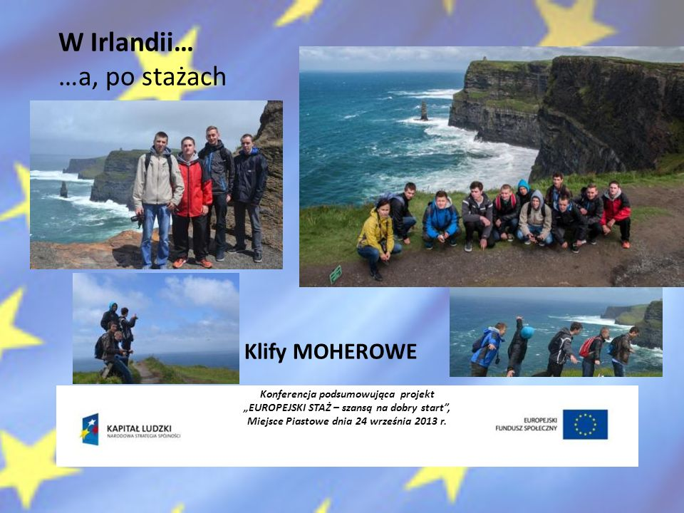 W Irlandii… …a, po stażach Klify MOHEROWE
