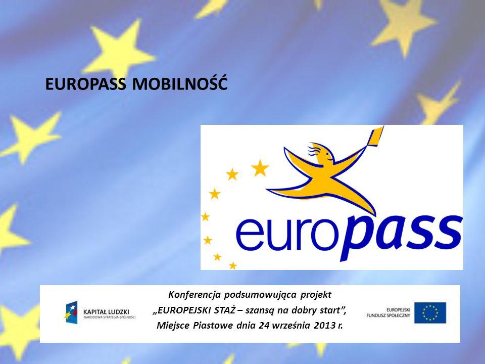 EUROPASS MOBILNOŚĆ Konferencja podsumowująca projekt