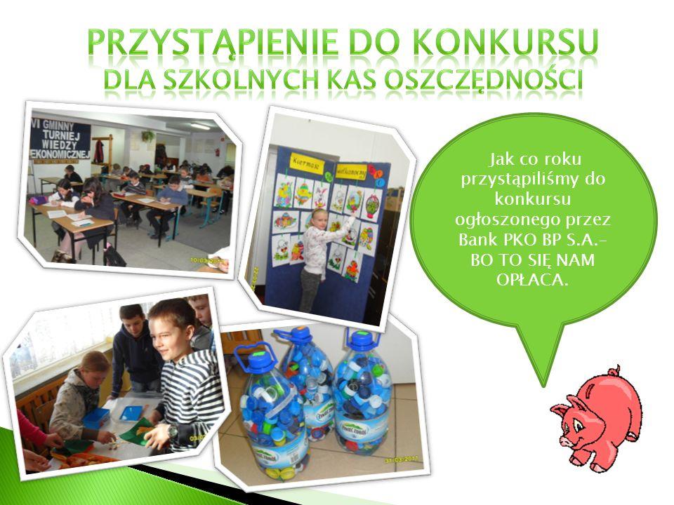 Przystąpienie do konkursu dla szkolnych kas oszczędności