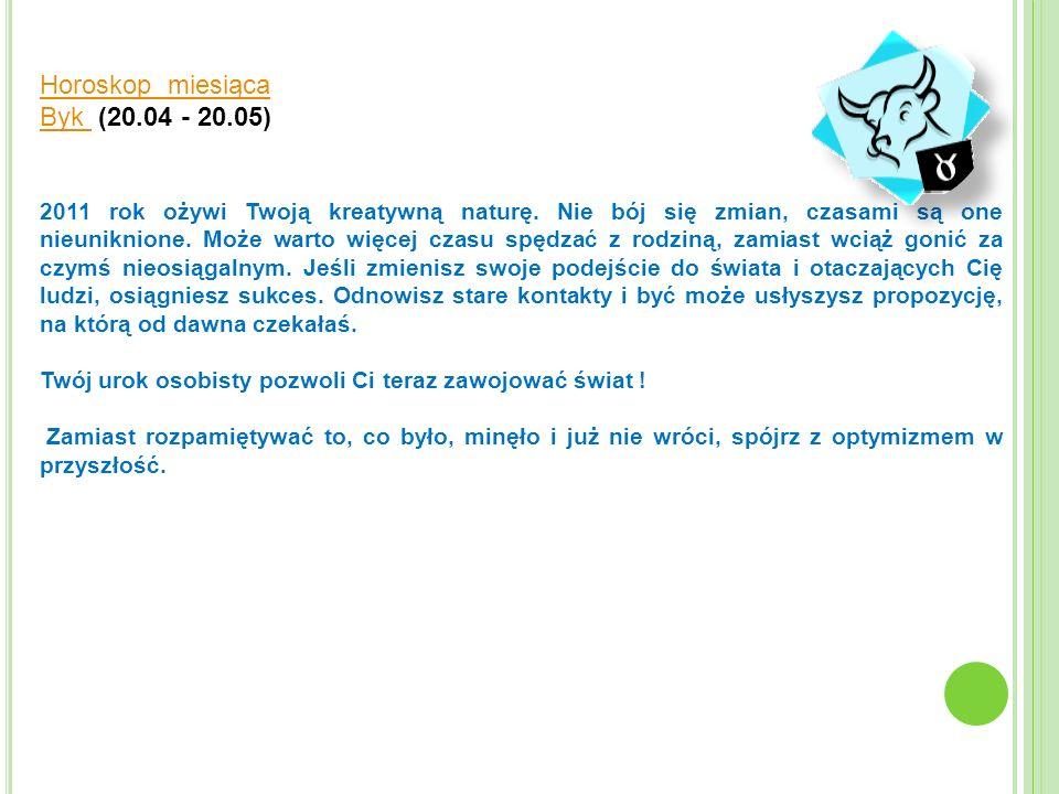 Horoskop miesiąca Byk (20.04 - 20.05)