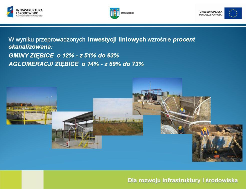 W wyniku przeprowadzonych inwestycji liniowych wzrośnie procent skanalizowana: