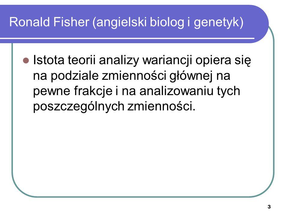 Ronald Fisher (angielski biolog i genetyk)