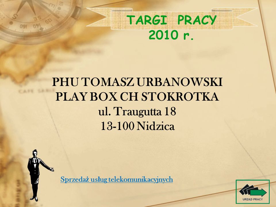 TARGI PRACY 2010 r. PHU TOMASZ URBANOWSKI PLAY BOX CH STOKROTKA