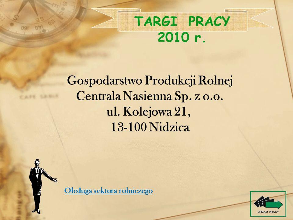 Gospodarstwo Produkcji Rolnej Centrala Nasienna Sp. z o.o.