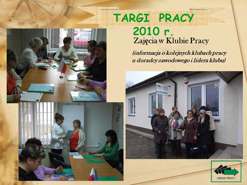 TARGI PRACY 2010 r. Zajęcia w Klubie Pracy