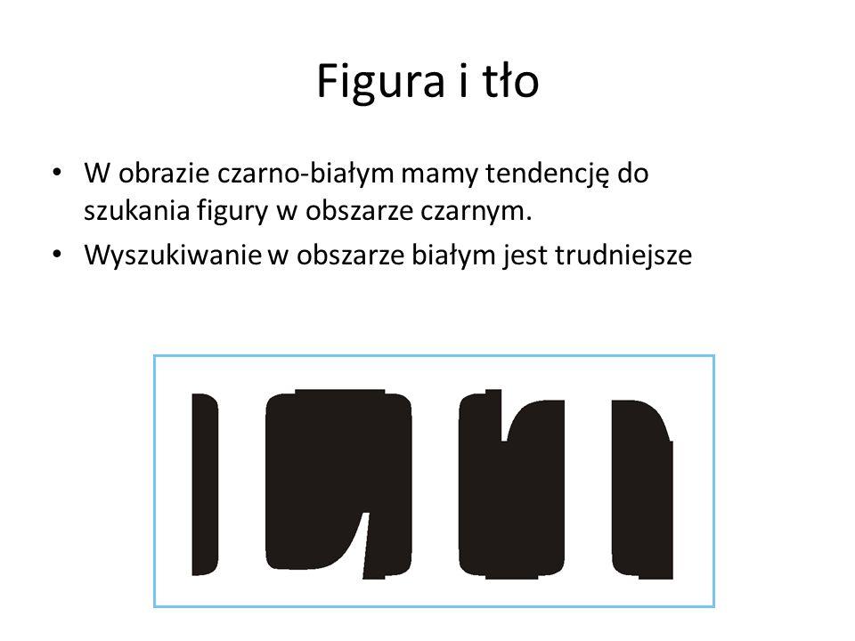 Figura i tło W obrazie czarno-białym mamy tendencję do szukania figury w obszarze czarnym.