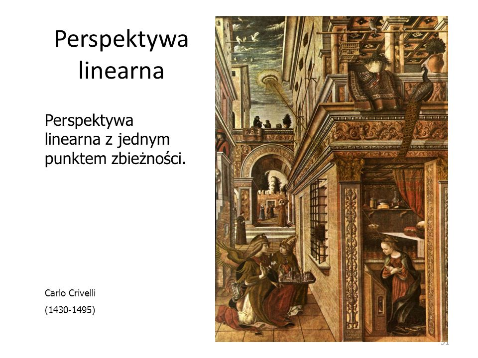 Perspektywa linearna Perspektywa linearna z jednym punktem zbieżności.