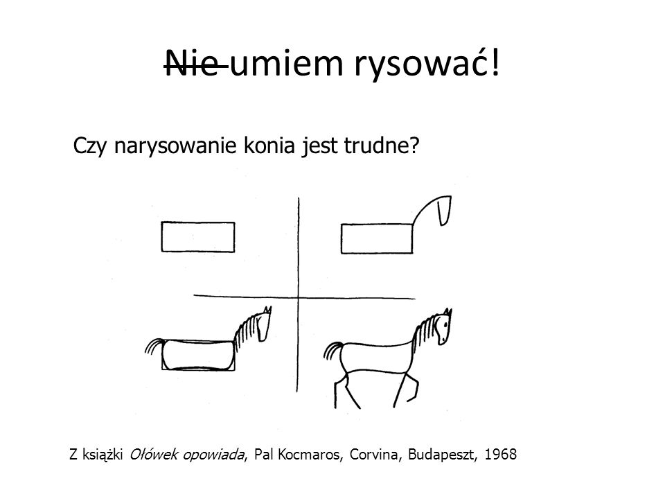Nie umiem rysować! Czy narysowanie konia jest trudne