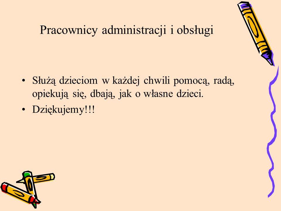 Pracownicy administracji i obsługi