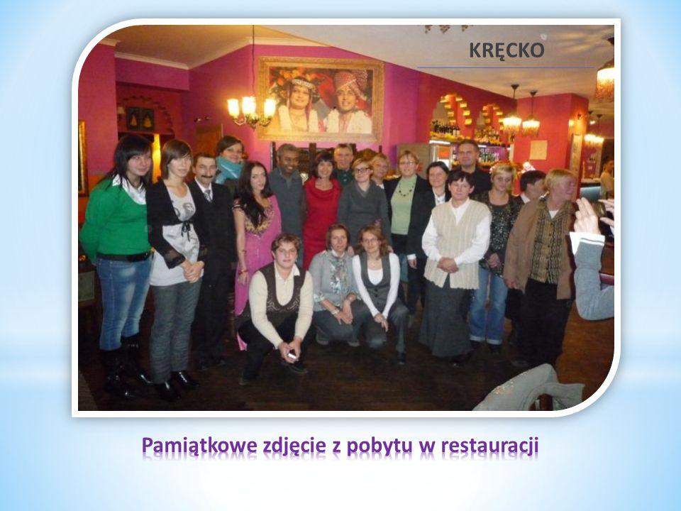 Pamiątkowe zdjęcie z pobytu w restauracji