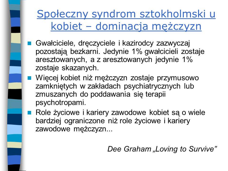Społeczny syndrom sztokholmski u kobiet – dominacja mężczyzn