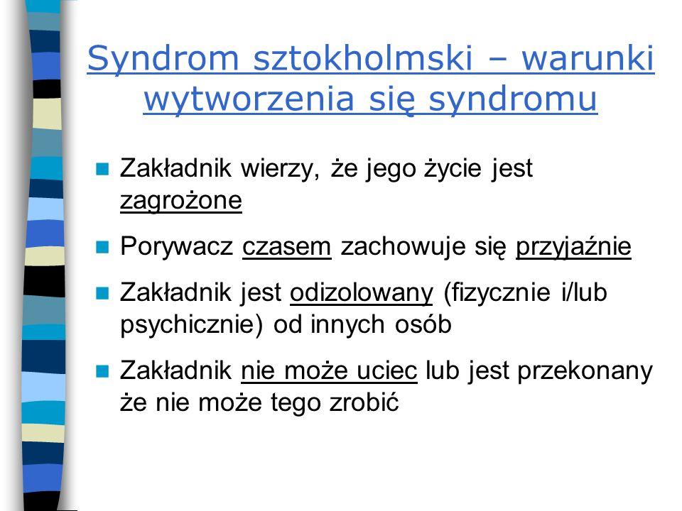 Syndrom sztokholmski – warunki wytworzenia się syndromu