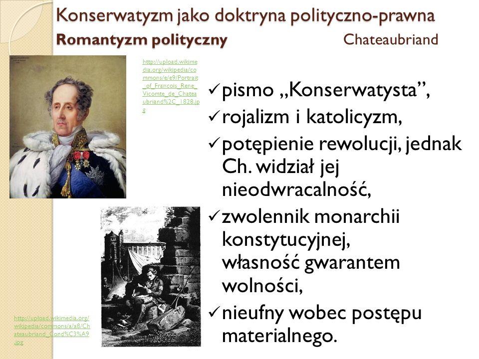 "pismo ""Konserwatysta , rojalizm i katolicyzm,"