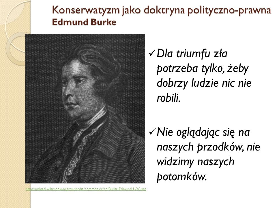 Konserwatyzm jako doktryna polityczno-prawna Edmund Burke
