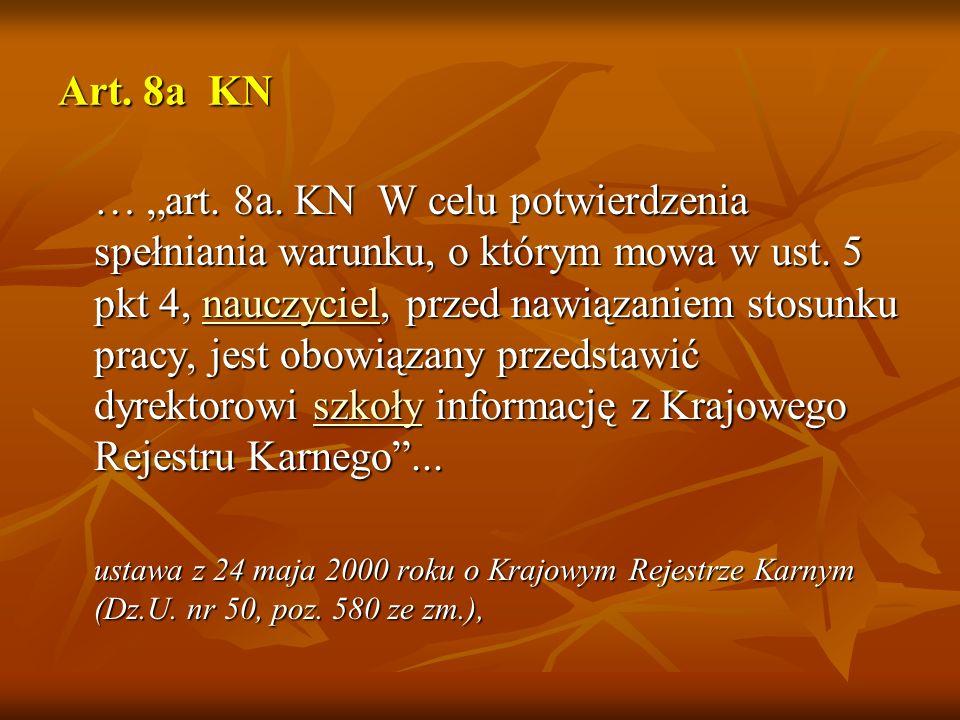 Art. 8a KN