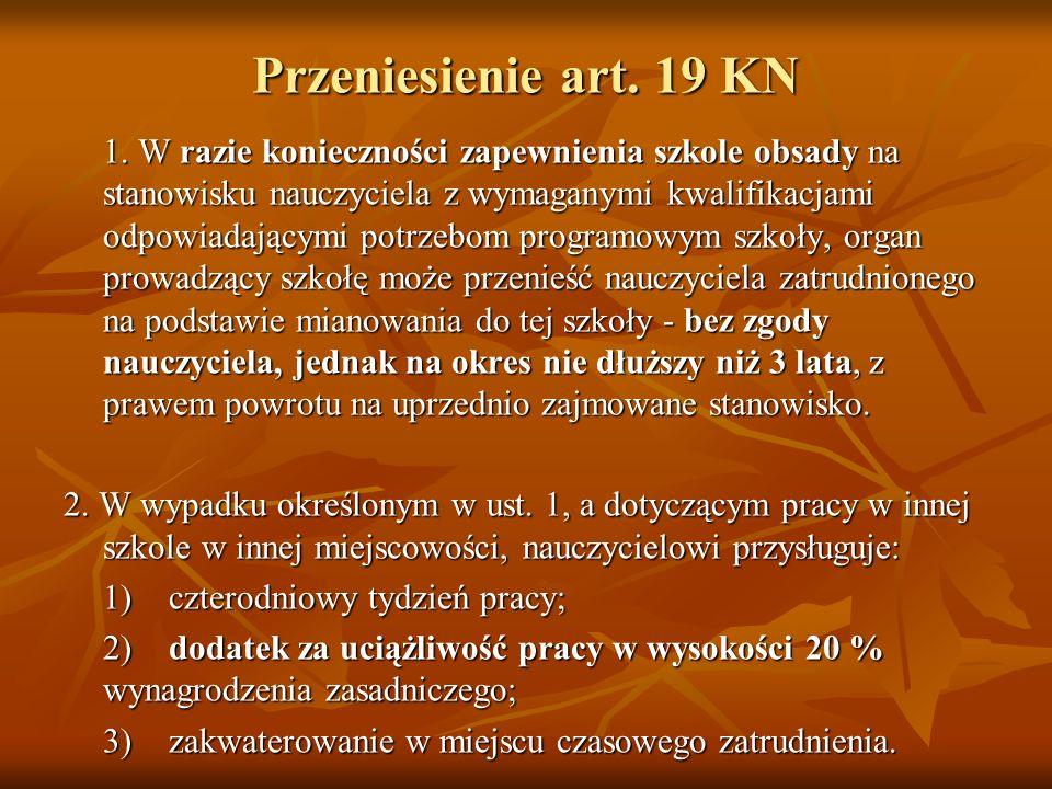 Przeniesienie art. 19 KN